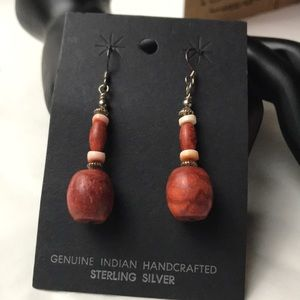 New hand crafted silver beaded earrings